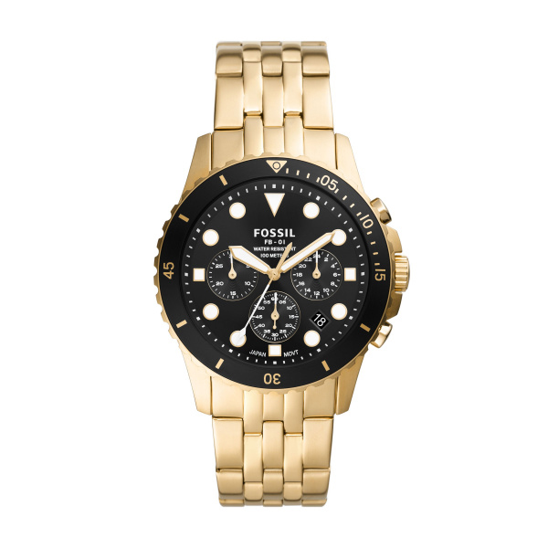 Fossil FB-01 Chronograph Gold-Tone Stainless Steel Watch (FS5836)