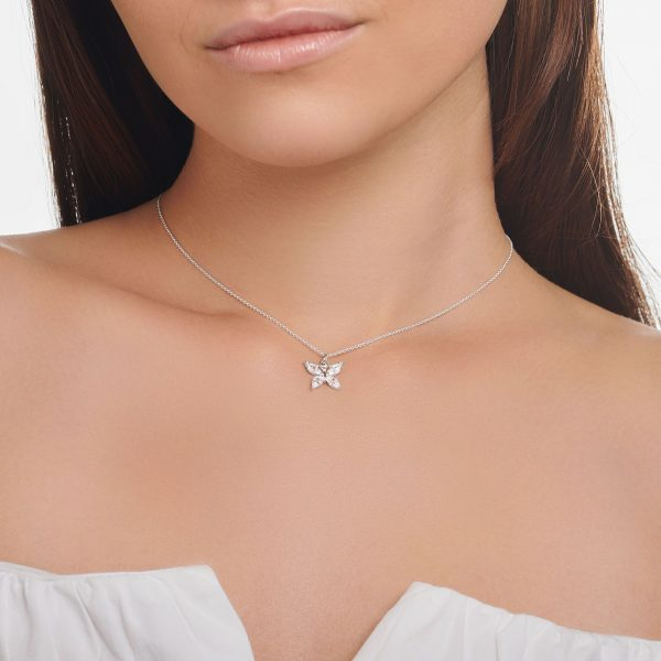 Thomas Sabo Butterfly Necklace with White Stones (KE2102-051-14-L45V)