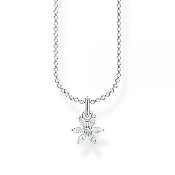 Thomas Sabo Flower Necklace with White Stones (KE2103-051-14-L45V)