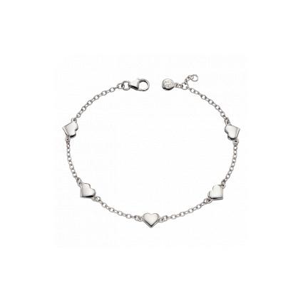 """Little Star Beatrice – """"Lots of love"""" Sterling Silver Heart Bracelet (LSB0308)"""