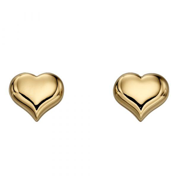 Little Star Aria Gold Heart Stud Earrings (LSE0155)