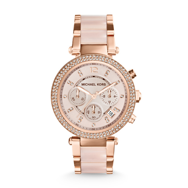Michael Kors Parker Rose Gold Tone Chronograph Watch (MK5896)