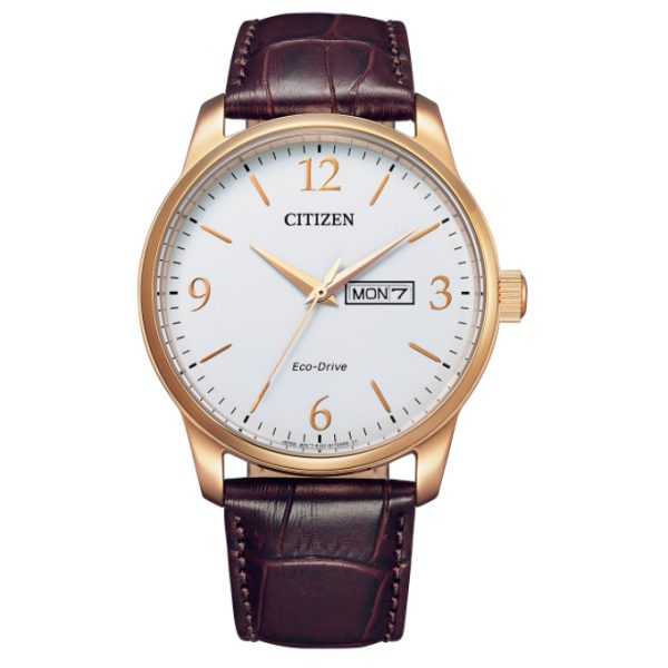 Citizen Classic Rose Gold White Dial Watch (BM8553-16A)