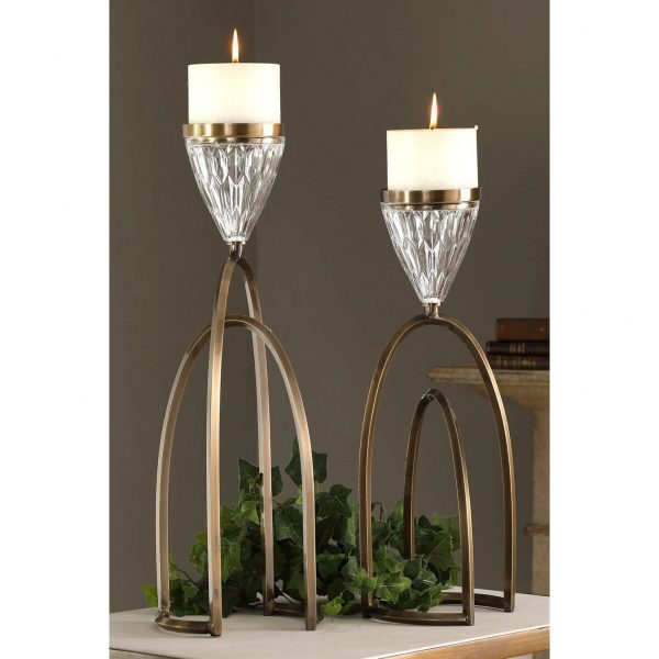 Mindy Brownes Carma Candle Holders Set/2 (18920)
