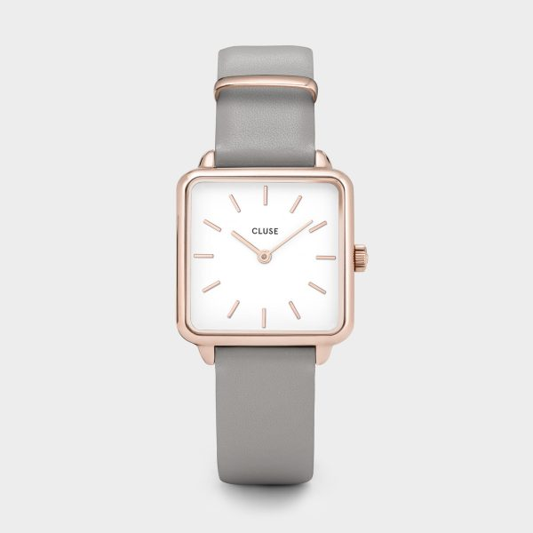 Cluse La Tétragone Grey Leather Watch (CL60005)
