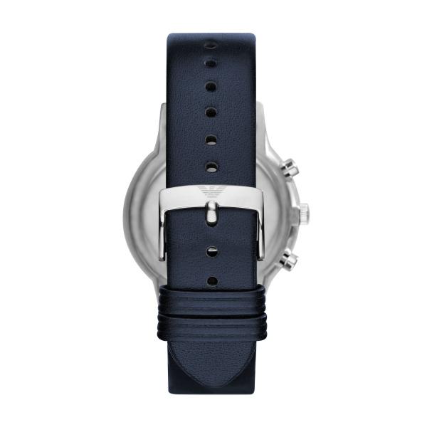 Emporio Armani Renato Blue Leather Watch (AR2473)