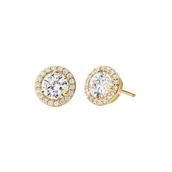 Michael Kors Gold-Plated Sterling Silver Pavé Studs (MKC1035AN710)