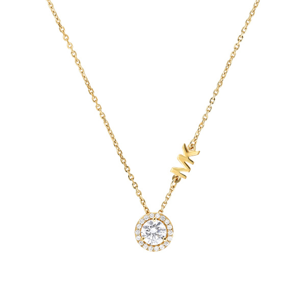 Michael Kors Gold-Plated Sterling Silver Pavé Halo Necklace (MKC1208AN710)